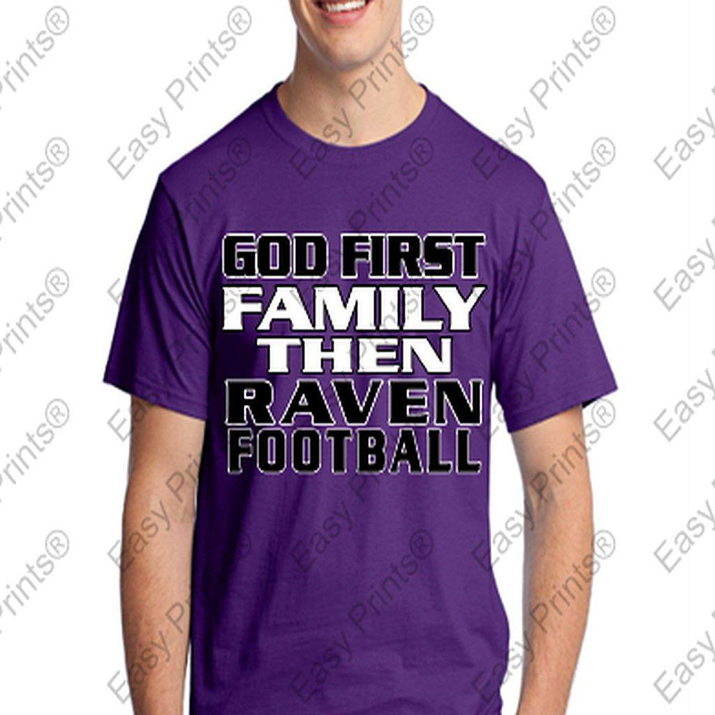 God First Family Then Baltimore Ravens Tshirt