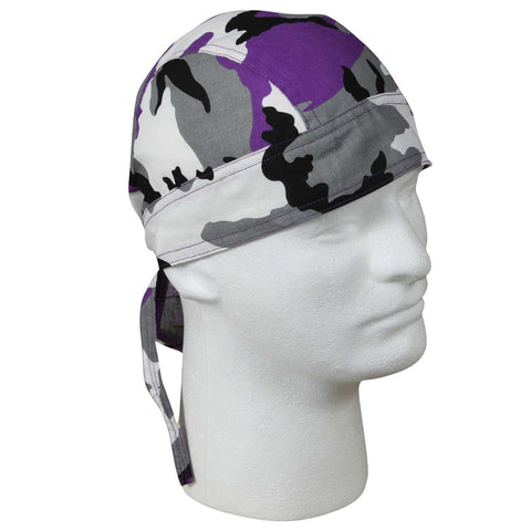 Baltimore Ravens Purple Color Camo Headwrap