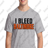 I Bleed Baltimore Orioles Ravens Tshirts 6 Great Colors to Choose From