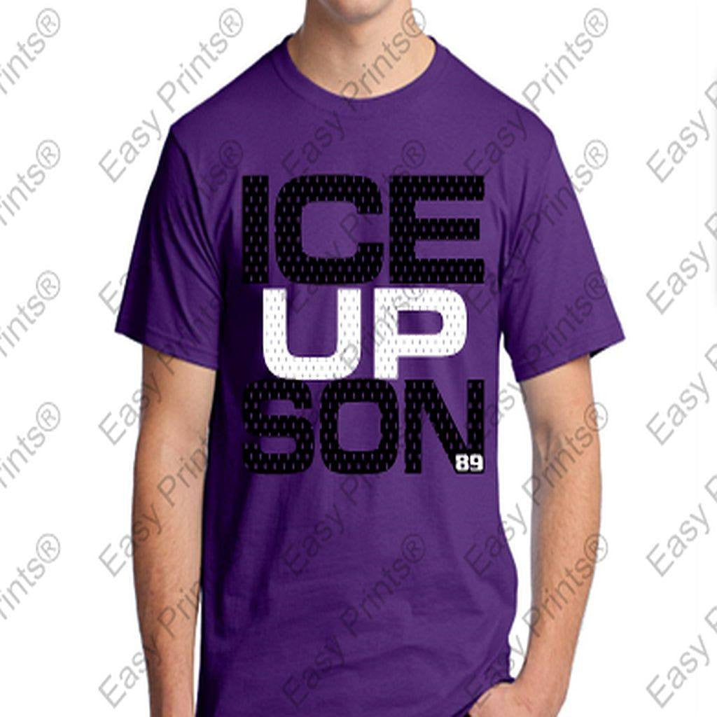 Baltimore Ravens ICE UP SON #89 Steve Smith Sr. Purple T-Shirt