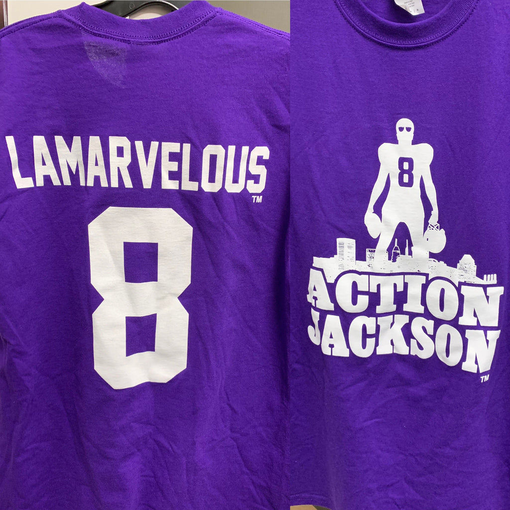 new product e86ea 70a60 Baltimore Ravens Lamar Jackson T-Shirt