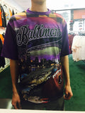 Baltimore Hi-Def Football Maryland Flag Ravens Stadium Sublimated Shirt