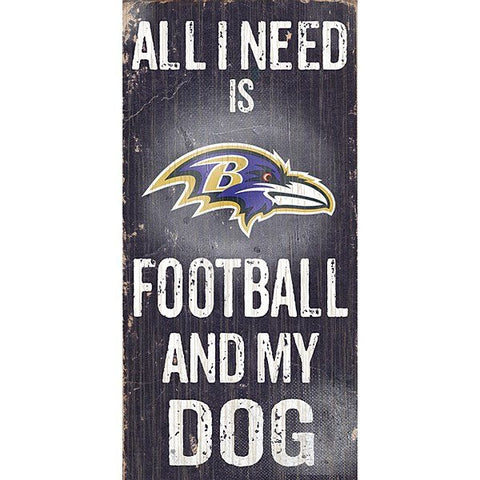 Baltimore Ravens Football and My Dog Sign