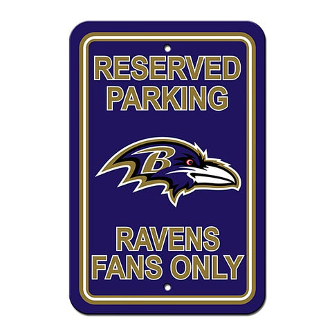 Baltimore Ravens Reserved Parking Sign