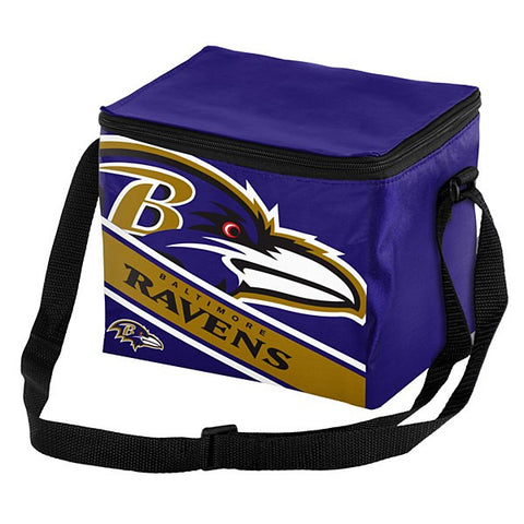 Baltimore Ravens 12 Pack Big Logo with Stripe Lunch Bag