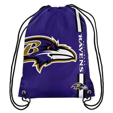 Baltimore Ravens Side Stripe Drawstring Backpack