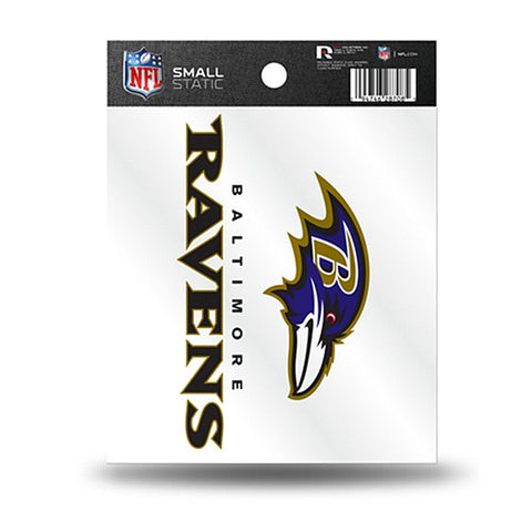 Baltimore Ravens Small Static Cling Decal