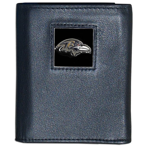 Baltimore Ravens Fine Grain Leather Wallet