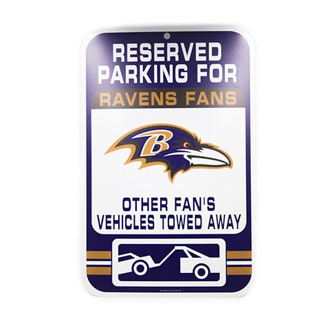 "Baltimore Ravens 11""x17"" Tow-Away Sign"
