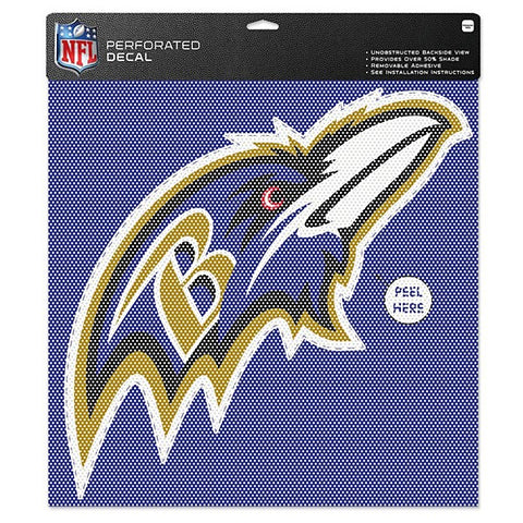 "Baltimore Ravens 17"" x 17"" Perforated Decal"