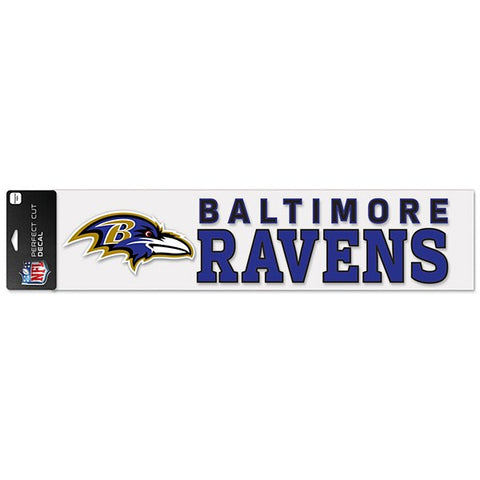 "Baltimore Ravens 4"" x 17"" Perfect Cut Color Decal"