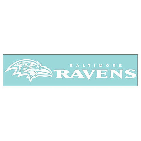 "Baltimore Ravens 4"" X 17"" Decal White"