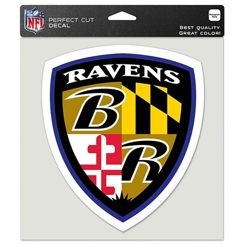 "Baltimore Ravens 8"" x 8"" Shield Crest Decal"