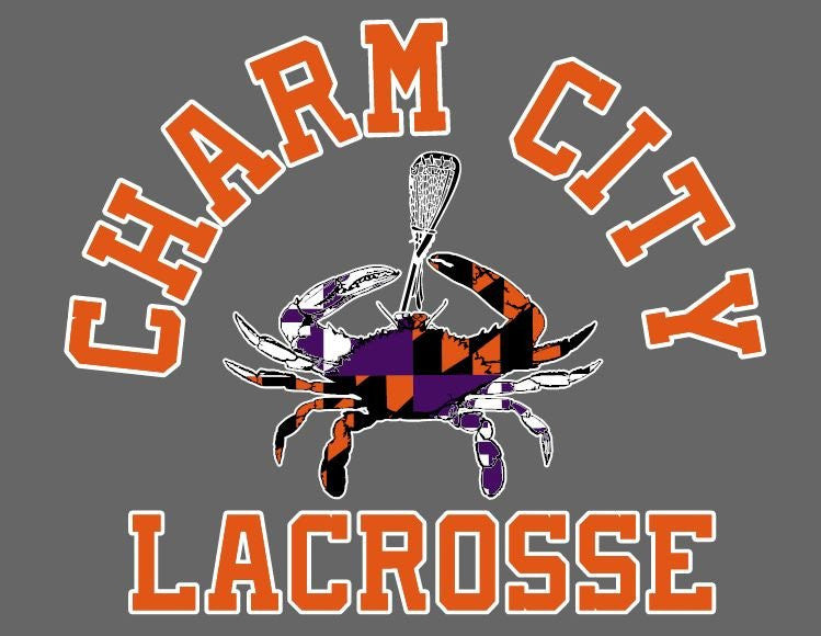 Charm City Lacrosse Maryland Crab Vinyl Decals Stickers