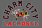 Charm City Lacrosse Maryland Crab Vinyl Decal