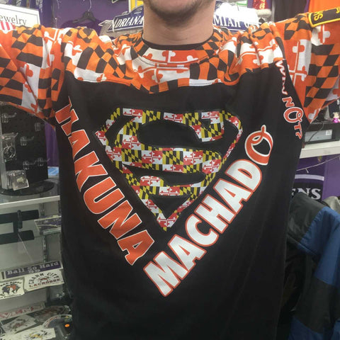 Super Machado Orioles Maryland Flag Tshirt