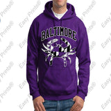Baltimore Crab Ravens or Orioles Maryland Flag Hoody