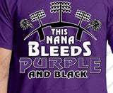 This Nana Bleeds Purple and Black Ravens Ladies