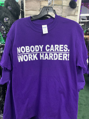 Nobody Cares Work Harder Lamar Tshirt Purple