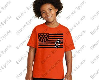 Orioles Bat Flag O Orange Kids Tshirt