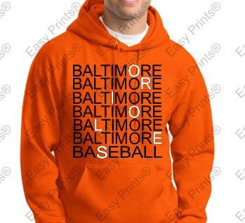Baltimore Orioles Eye Doctor Orange Hoody