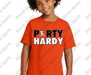 Orioles Party Hardy Orange Kids Tshirt