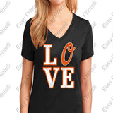 Jones 10 Orioles Love Black Ladies V T-Shirt