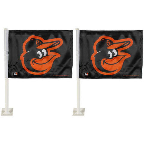 Baltimore Orioles Car Flag 2 Flag Set
