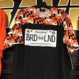 Baltimore Maryland Flag Orioles Ravens License Plate T-Shirt