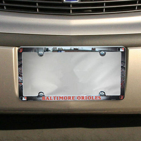 Baltimore Orioles Field Plastic License Plate Frame