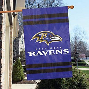 "Baltimore Ravens 44"" x 28"" Double Sided House Flag"