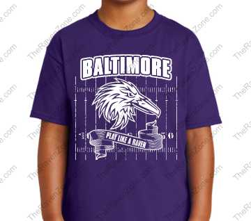 Play Like A Raven Kids Purple Tshirt