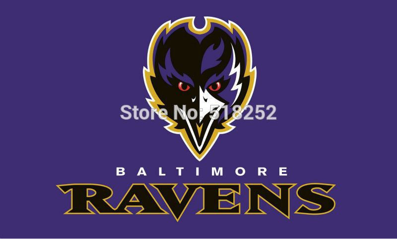 Baltimore Ravens Logo Flag 3x5 FT