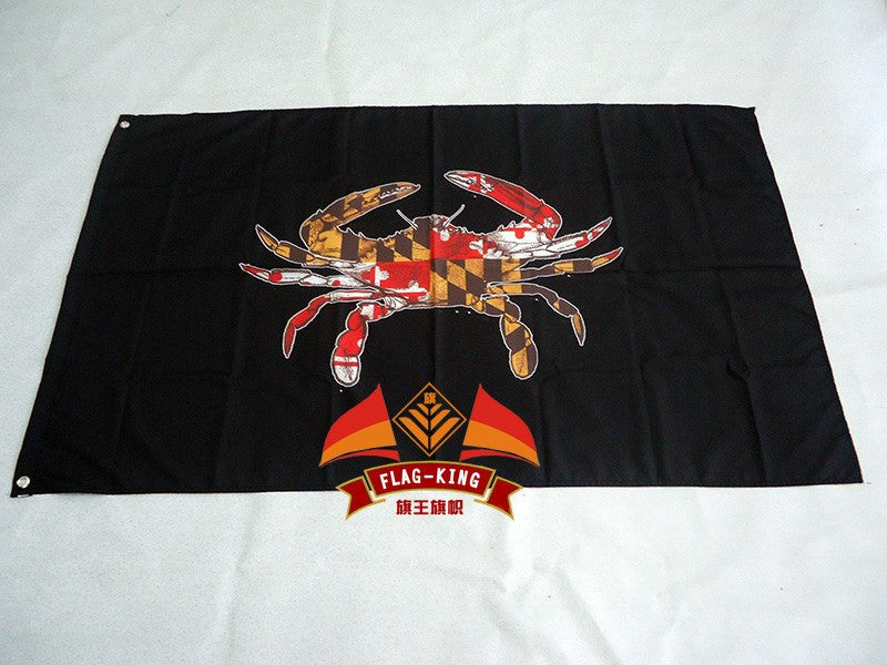 maryland with black background  flag,maryland  90*150CM  100% polyester  banner