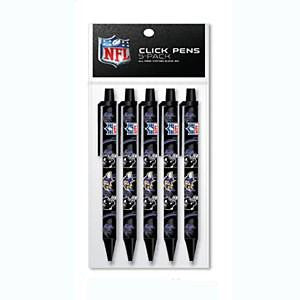 Baltimore Ravens 5 Pack Click Pens