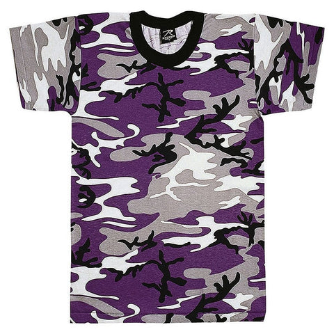 Purple Ravens Camo Kids T-Shirt