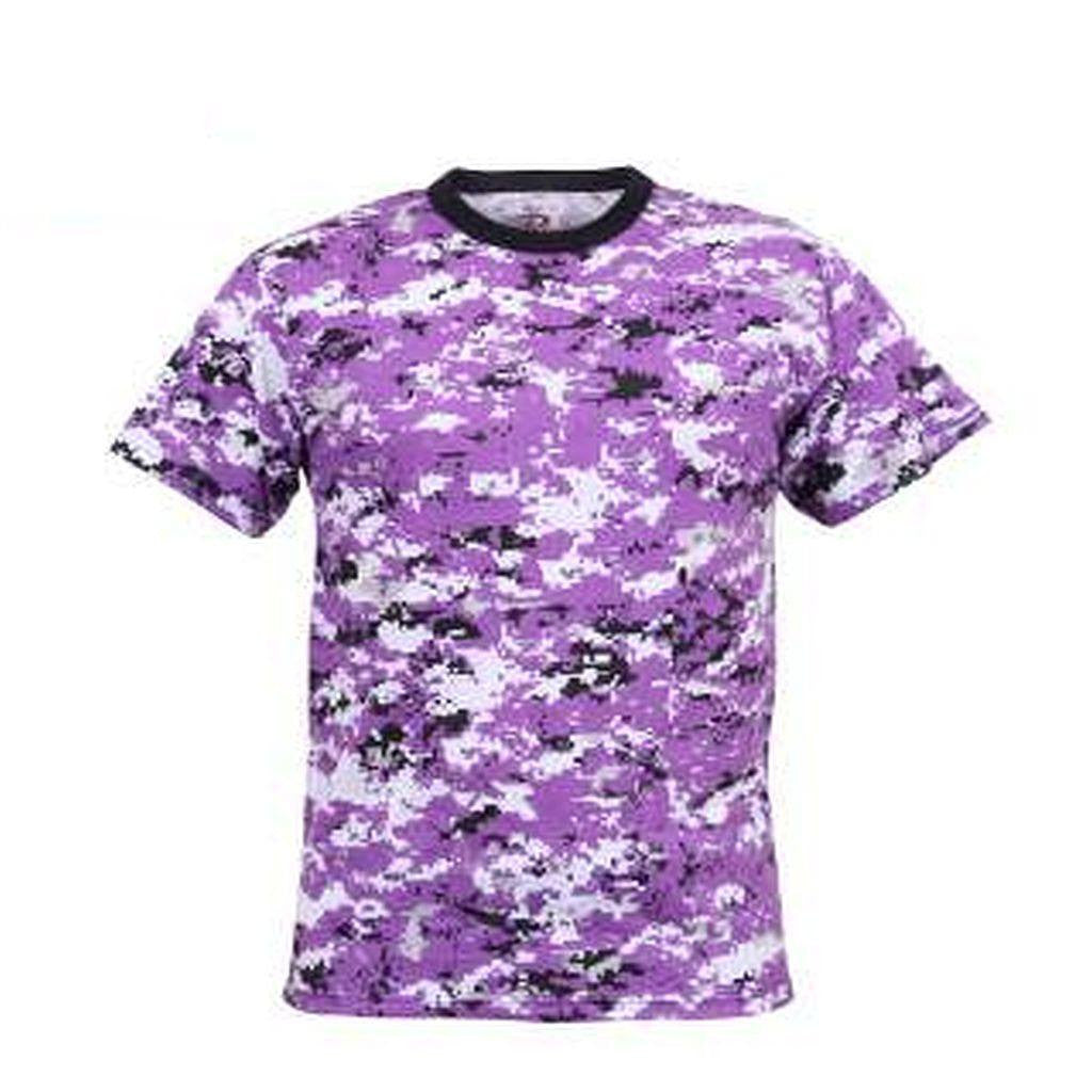 Purple Ravens Digital Camo Mens T-Shirt