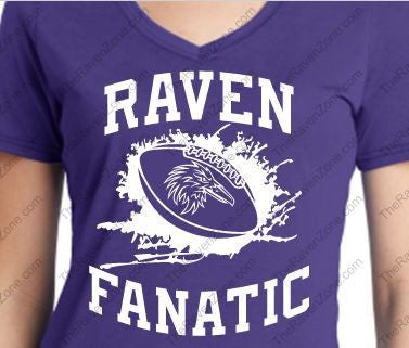 Ravens Fanatic Fan Ladies V Tshirt Purple
