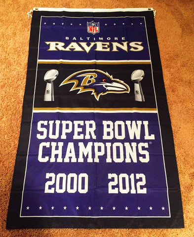 Baltimore Ravens Super Bowl Champions 3' x 5' Flag Banner