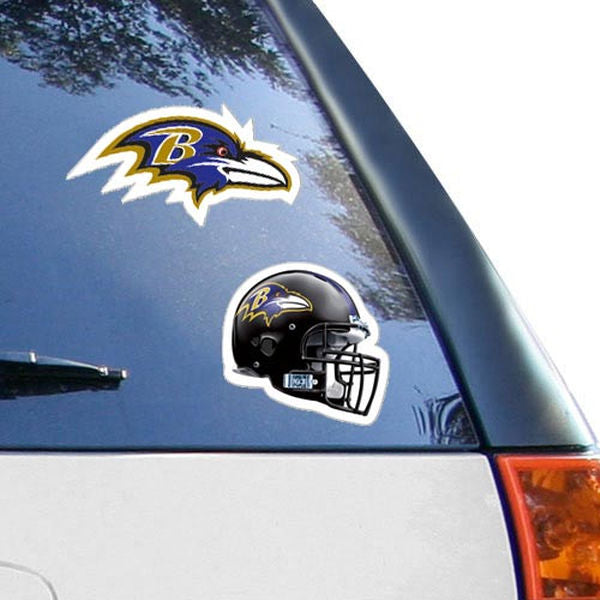 Baltimore Ravens 2-Pack 4'' x 4'' Die-Cut Decals