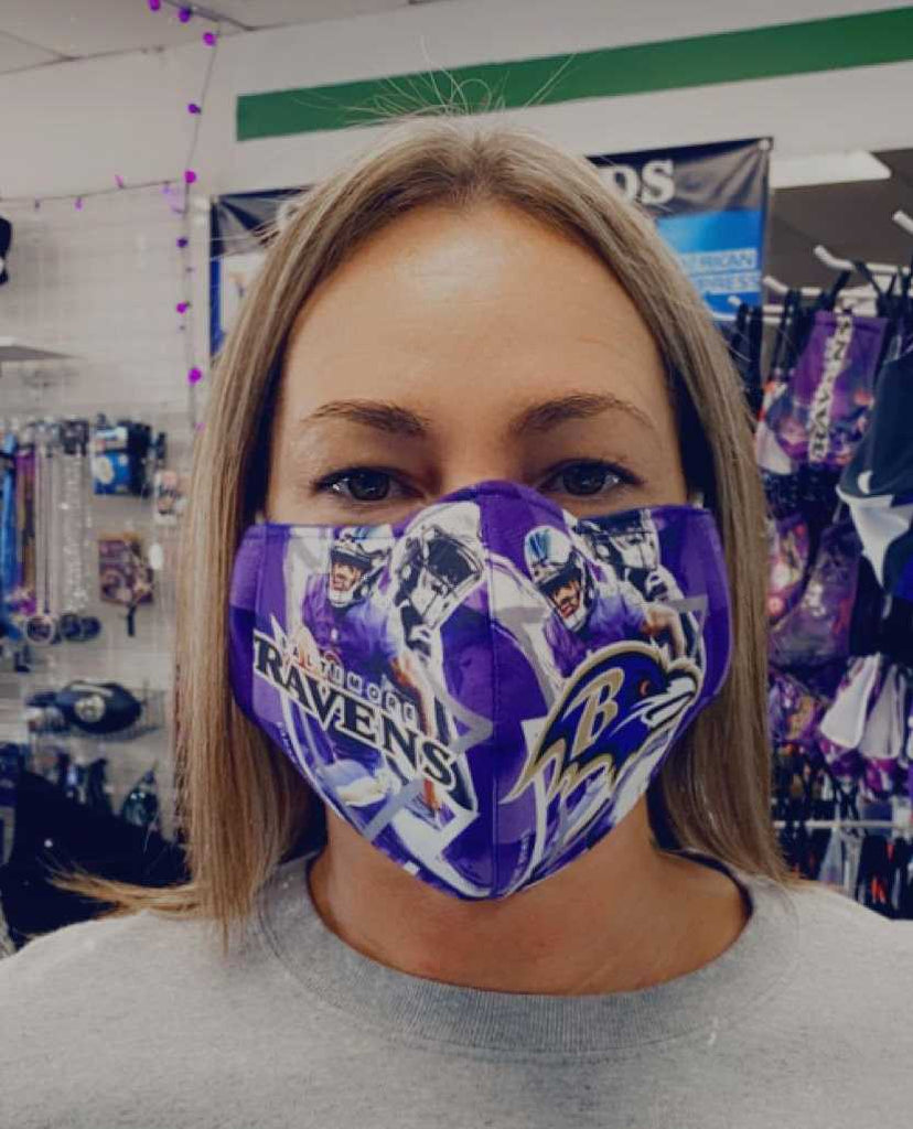 Baltimore Ravens Face Mask - #8 Design
