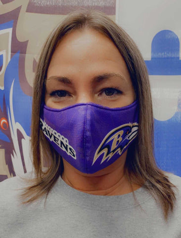 Ravens All Over Face Mask - Polyester & Mesh