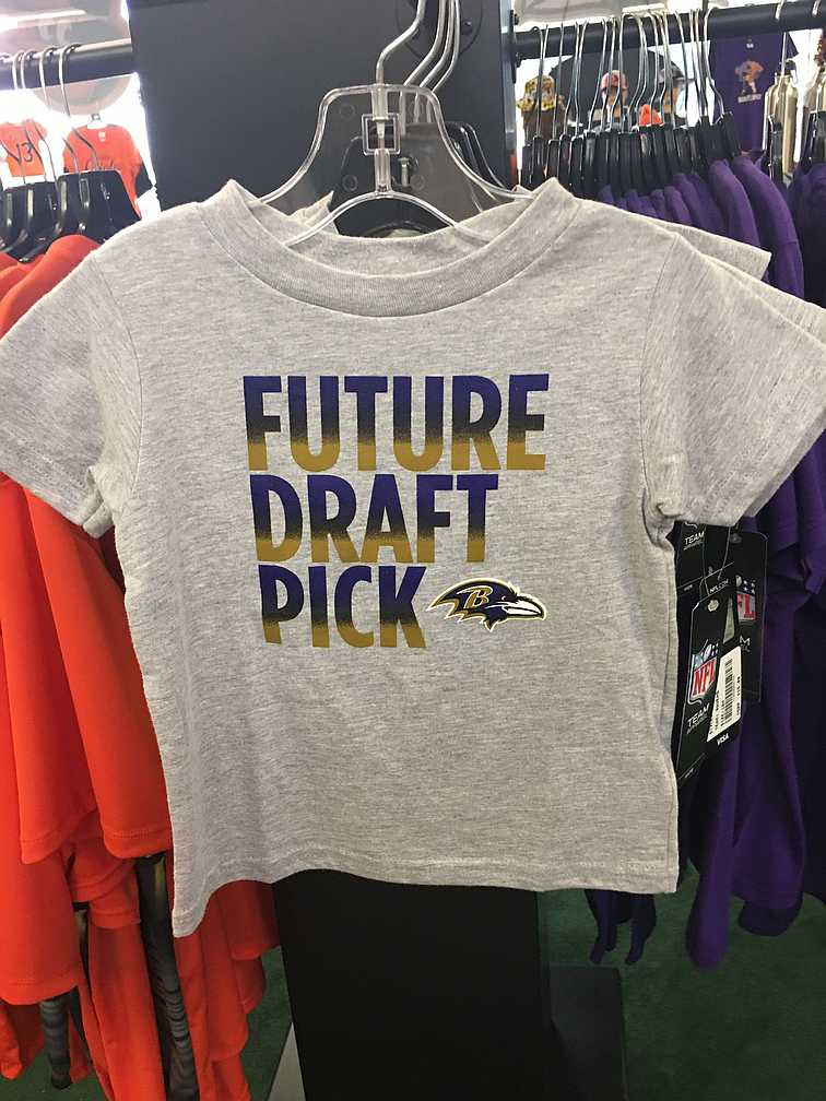 Baltimore ravens baby future draft pick kids tshirt
