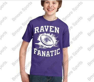 Ravens Fanatic Purple Kids Tshirt