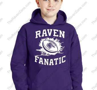 Ravens Fanatic Baltimore Kids Purple Hoody