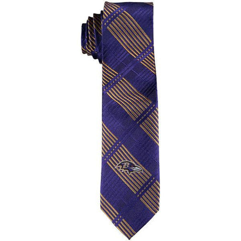 Baltimore Ravens Skinny Plaid Tie