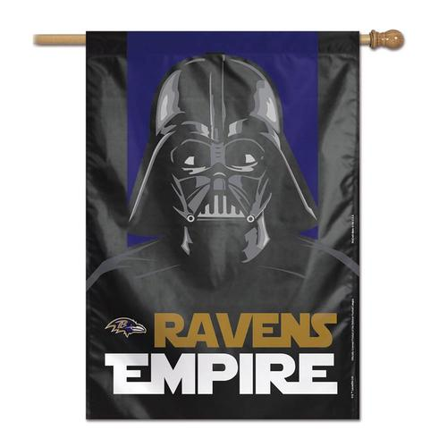 Baltimore Ravens Vertical Flag Star Wars Darth Vader Banner