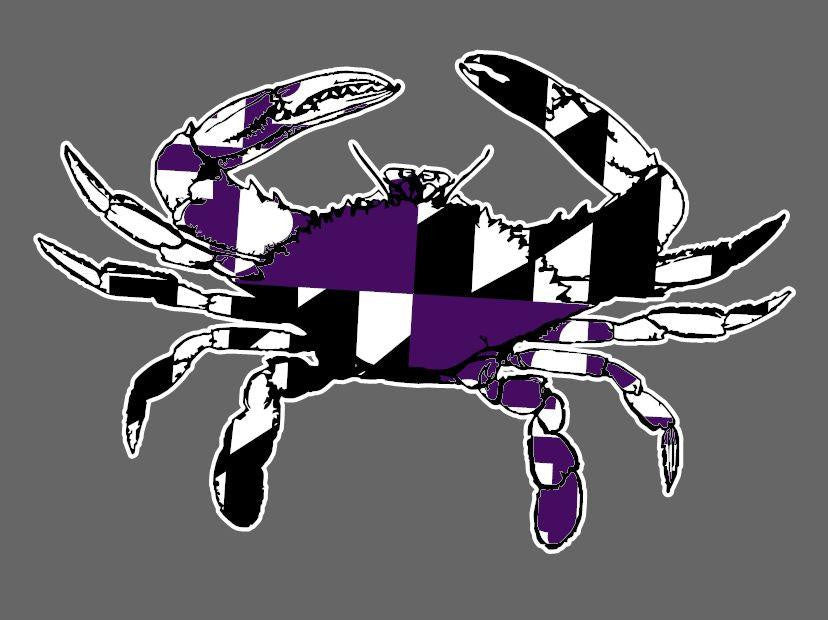 Maryland Crab Vinyl Decals Stickers Many Colors