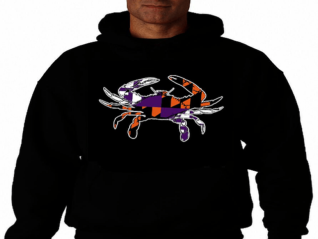 Maryland Crab Baltimore Ravens Orioles Black Hoody