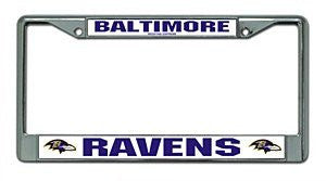 Baltimore Ravens Chrome License Plate Frame